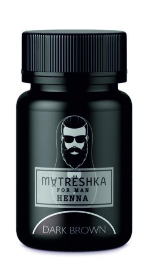 Хна для бороды темно-коричневая - Matreshka