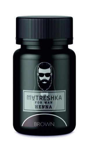Хна для бороды коричневая - Matreshka