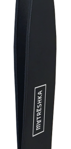 Черный скошенный пинцет для бровей Matreshka For Men